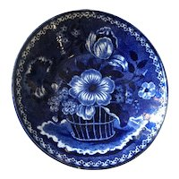 Clew's English Blue & White Transferware Pottery Bowl, Staffordshire dating 1818-1834