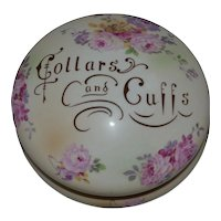 19thC Collar and Cuff lidded Porcelain Container by  Frances Morley & Co ca1845-1858