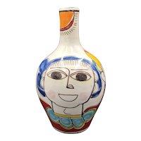 Italian Giovanni Desimone Hand-Painted Pottery Vase
