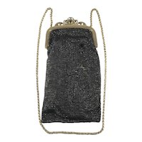 Black Mesh Whiting & Davis Co Evening Bag