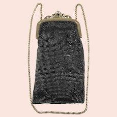 Black Mesh Whiting & Davis Co Evening Bag