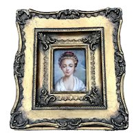 19thC Miniature Portrait Young Woman