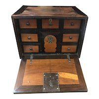 Late 18thC or Early 19th C Traveling Chest or Desk