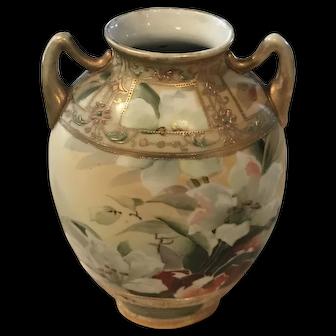 Antique Japanese Nippon Art Nouveau Moriage Vase, 1911ca