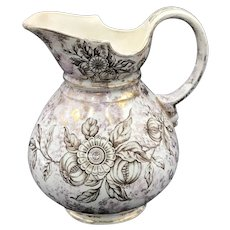 19thC Pomegranate Luster Pitcher