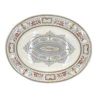 """Bates Gildea & Walker Regent Pattern Ironstone 18-5/8"""" Platter Circa 1880"""