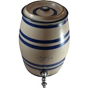 Vintage Robinson Ransbottom 2 Gallon Water Cooler Crock, with Lid