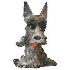 1930s Rosental Pastell Bisque Scottish Terrier Dog 817