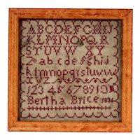 1836 Alphabet Sampler