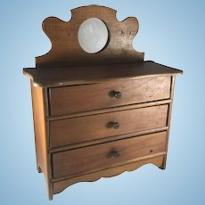 Late Victorian Child's Doll Dresser, Salesman Sample Chest