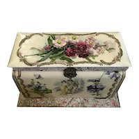 Late Victorian Dresser Compendium Set - French Papier Mache