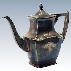 Early 19th Century Holmes & Edwards Century Pattern Silver plate/Holloware Coffee Pot