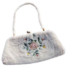 1940s Vintage Hand-beaded Clutch Purse
