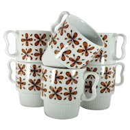 SY Japan Mid-Century Mod Stackable Mug set of Six (6)