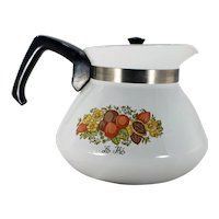 Corning Ware 1970's Spice o' Life pattern 6 Cup Teapot/Kettle