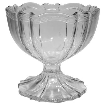 EAPG Signed Krys-Tol 1776 Colonial Pattern Glass Large Open Compote Bowl