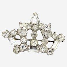 Dimensional Crown Brooch