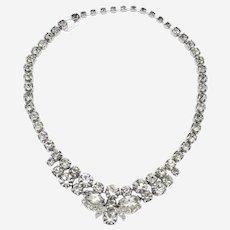 Signed Eisenberg Ice Crystal Rhinestone Necklace circa 1950s