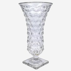 Fostoria American Pattern Square Footed Flower Vase