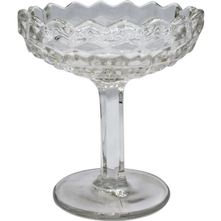Fostoria American Pattern Square Footed Compote Dish