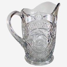Antique (EAPG) Sextec Pitcher McKee Glass Pres-Cut 1906