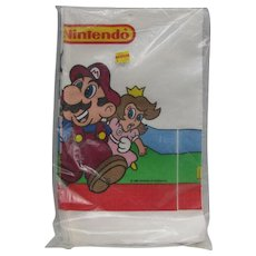 1988 Sealed Mario Brothers Ninetendo Paper Tablecloth