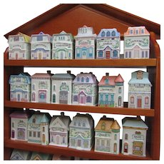 Lenox Spice House Village with 24 Victorian Houses.  Never Used. Original Box.