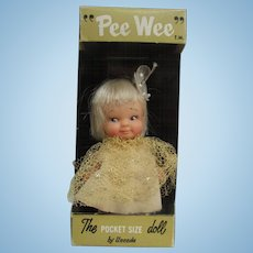 Pee Wee. The Pocket Size Doll by Uneeda.  104L Dream Time in Original Box