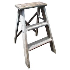 3 Step Wooden Ladder.  Great as a Garden Decoration, Plant Stand or Decorative Stand