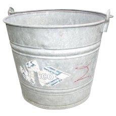 Vintage Nesco Galvanized Bucket. Pail.  Feed Bucket. Garden. Planter. Flower Pot
