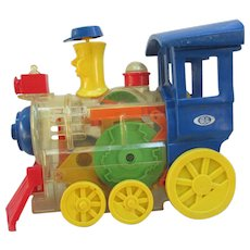 VINTAGE Ideal Windup Choo Choo Train. Good Working Condition. Dated 1974. Cousin of Mr. Machine