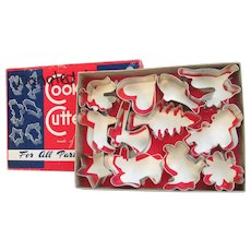 12 Vintage Cookie Cutters Made of Metal. All Occasions. Cookie Cutters In Original Box.