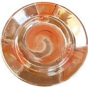 Royal Haeger 2069 U.S.A. Vintage Haeger Ashtray 2069. Orange Swirl.