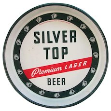 VINTAGE Duquesne Brewing Company, Silver Top Premium Lager Metal Beer Tray. Servingware