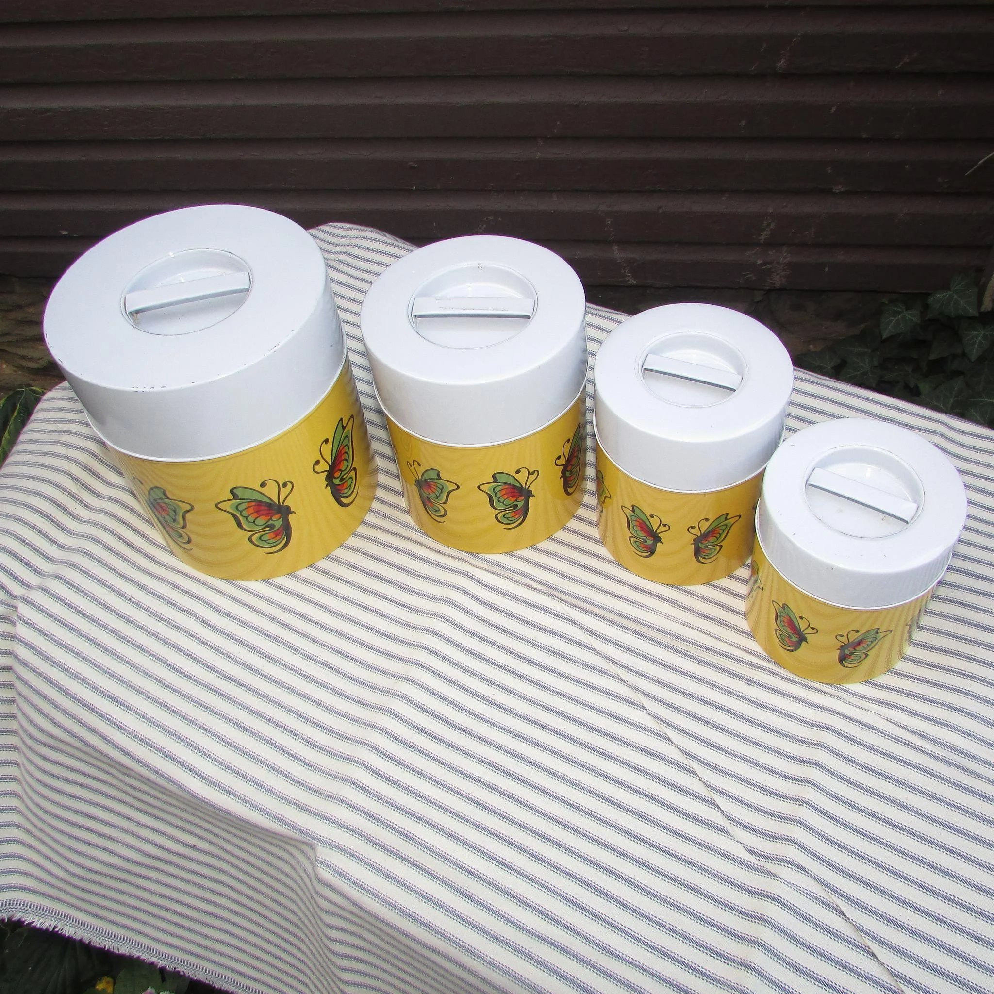 Set of MOD Canisters. Nesting Canister Set. Yellow, White. : Old ...