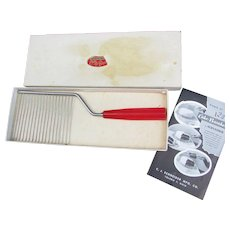 Vintage Schneider Chrome Plated Cake Breaker or Slicer in Original Box.