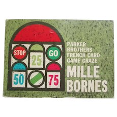 Mille Bornes The French Card Game, Parker Brothers, 1962
