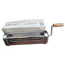 Vintage New Imperia R.220 Pasta Cutter. Spaghetti Cutter. In Original Box. Never Used.