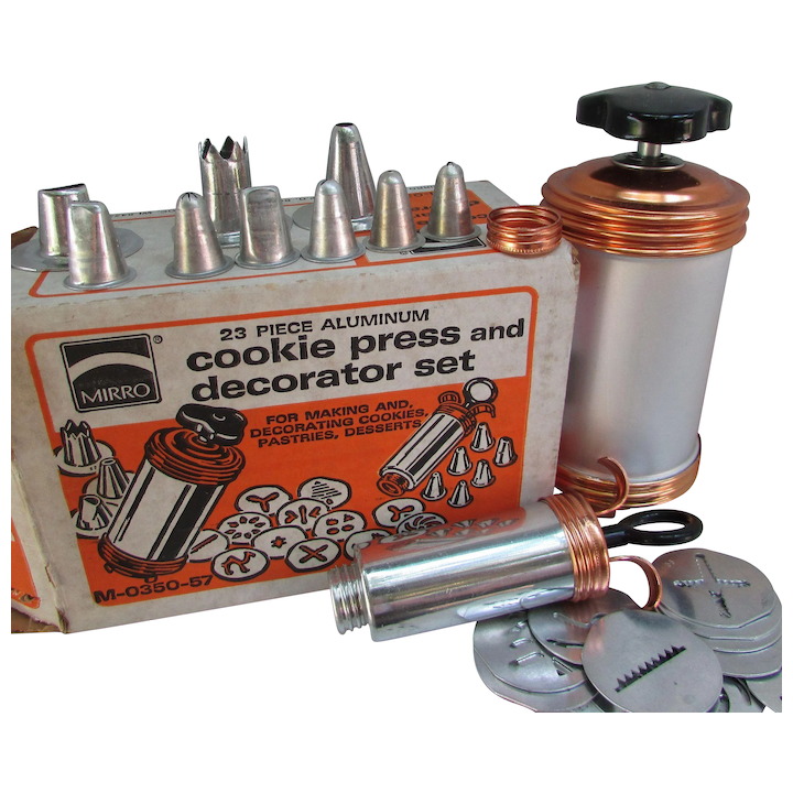 23 Piece Mirro Cookie Press and Decorator Set for Making and Decorating  Cookies, Pastries, Desserts  M-0350-57