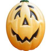 "Large 24"" Vintage Blow Mold Pumpkin. Lighted Halloween Decoration. Excellent Condition"