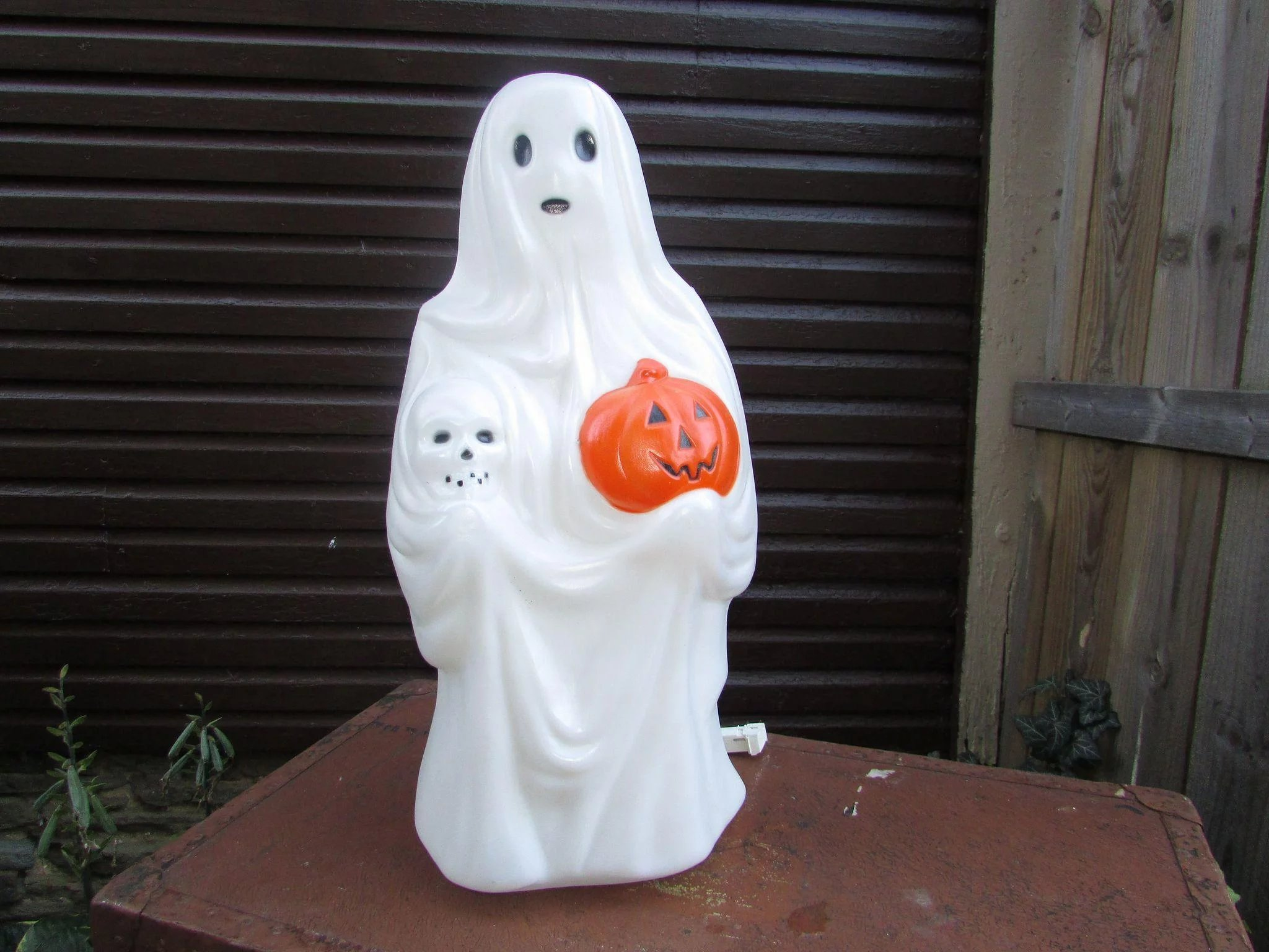 Vintage Blow Mold Ghost Halloween Decoration Lighted Ghost Empire