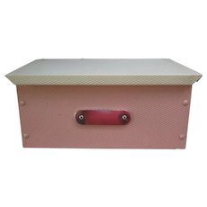 Fabulous Vintage Pink and White Letter Size Metal Mailbox. Terrific for Beach House or Cottage
