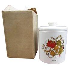Vintage Ransburg Rice Tin in Original Mailing Box. 1970s