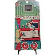 The Teddy Bear Train.  Fun House Book with Tiny TV.  1966 James & Jonathan, Inc. #3971