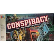 Conspiracy. A Spy Game of Bluffing and Betrayal. Milton Bradley 1982 Excellent Condition.  Complete