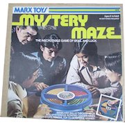 Marx Mystery Maze Game of Skill and Luck. Marx Toys 1976. IOB. VINTAGE