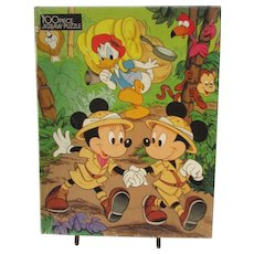 Mickey Mouse & Minnie Mouse. Jigsaw Puzzle. VINTAGE Disney 100 Piece Puzzle. IOB. Donald Duck. Disney
