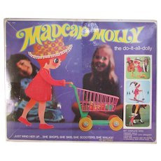 MadCap Molly the Do it All Dolly. She Skies, Rides a Scooter and Pushes a Grocery Cart Shopping Basket