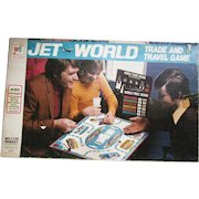 1975 Jet World The Trade and Travel Game. Milton Bradley. Family Board Game. Most Parts Still SEALED!