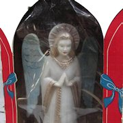 Imperial Illuminated Angel Tree Topper. A251 in Original Box. Vintage Christmas Tree Top IOB. 1960s.